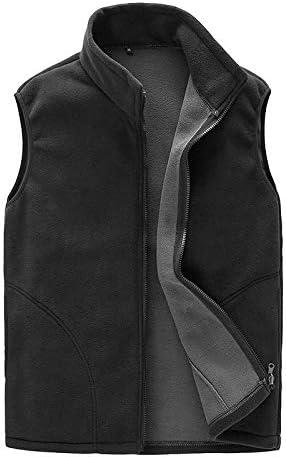 LYLY Vest Women Men Vest Casual Warm Zip Casual Fleece Vest Spring Male Waistcoat Autumn Warm Sleeveless Jacket Outdoor Vest Coat Vest Warm (Color : Black, Size : M)