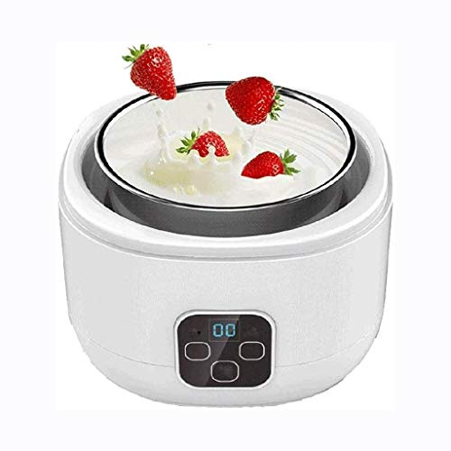 STRAW Automatic Yogurt Machine-Homemade Organic Electric Yogurt Maker with 4 Dishwasher-Safe Glass Jars and Lids