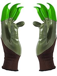 Honey Badger Garden Gloves for Digging and Planting No More Worn Out Fingertips Unisex Claws on Both Hands