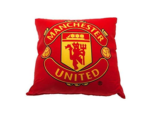 Official Manchester United FC Cushion - A great gift / present for men, boys, sons, husbands, dads, boyfriends for Christmas, Birthdays, Fathers Day, Valentines Day, Anniversaries or just as a treat for and avid football fan