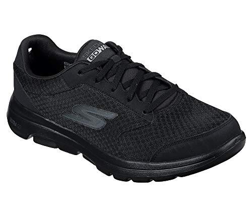 Skechers Men's Gowalk 5 Qualify-Athletic Mesh Lace Up Performance Walking Shoe Sneaker, Black, 9.5 Extra Wide US