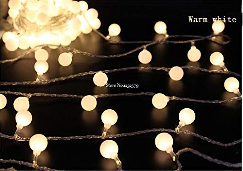 Warm White   Christmas Solar LED String Lights 5M 20 LED Ball Shape Lamps Luces Navidad Garden Outdoor Garland Lights