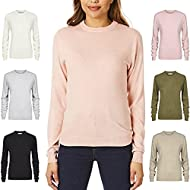 SUPER SOFT CASHMILLON JUMPER: This Ladies Crew Neck Jumper Is Manufactured Using Special Cashmillon Acrylic Fibre Which Creates A Sweater Offering Unparalleled Levels Of Comfort Softness And Warmth Combined With Excellent Value For Money. CASHMILLON ...