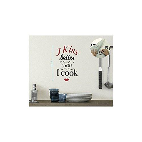 Sticker tansfert Nachrichten I kiss better than i cook neuen Bildern