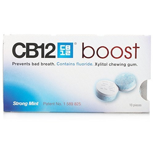 CB12 Boost Sugar Free Chewing Gum Strong Mint - 1 Pack of 10 pcs by meda