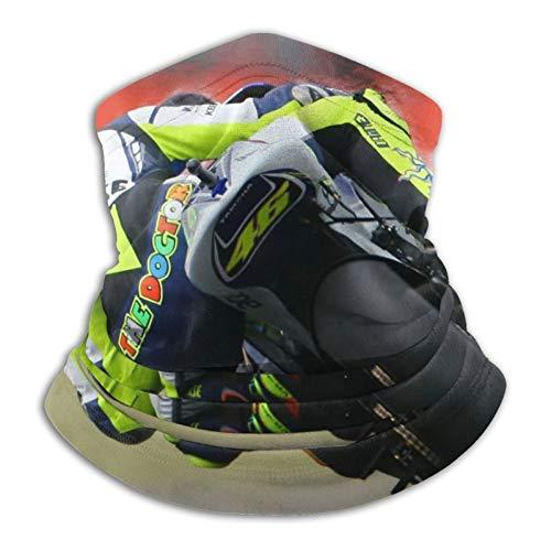 Valentino Rossi Outdoor-Gesichtsabdeckung, atmungsaktiv, ideal für Wandern, Laufen, Radfahren, Motorrad, Ski, Snowboard