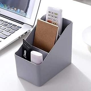 Hamee Multi-Purpose Office and Home Desk Organizer Plastic Desktop Storage Box Case Pen Pencil Holder Plastic Cosmetics Make Up Organizer (Grey)