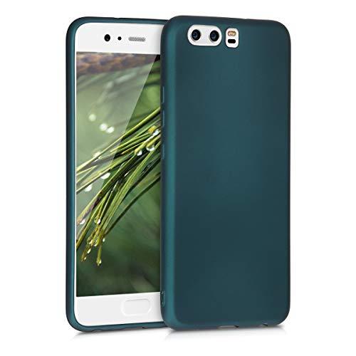 kwmobile Coque Compatible avec Huawei P10 - Housse de téléphone en Silicone pétrole métallique