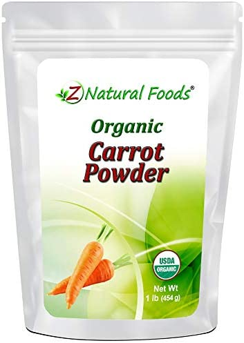 Organic Carrot Powder Orange Vegetable Superfood Supplement for Drinks Shakes Smoothies Recipes product image