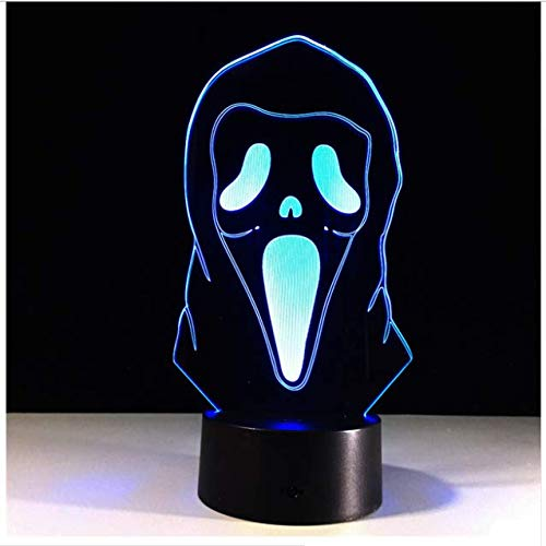 Halloween masker 3D illusie lamp gradient sfeerlamp kinderen slaapkamer decoratie huis 3D LED nachtlicht