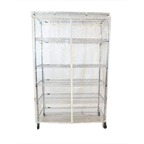 Formosa Covers Storage Shelving Unit Cover See Through PVC, fits Racks 48' Wx24 Dx72 H All Clear PVC (Cover only)