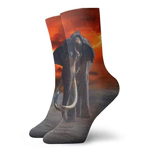 Socken mit Elefantenmotiv, für Damen und Herren, Sportsocken, Länge 30 cm