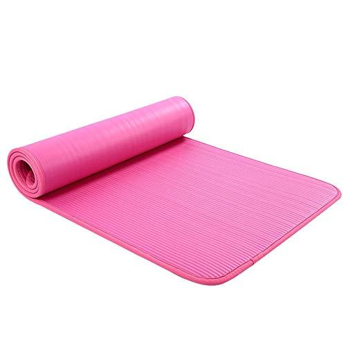 BAWAQAF Esterilla de yoga, NBR antideslizante alfombra, tapete de gimnasio para principiantes, Yogi Fitness Gym Mat, portátil al aire libre para el hogar duradero