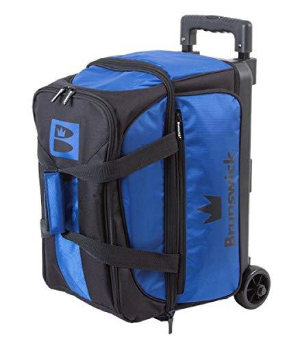 Brunswick Blitz Double Roller diversen Farben Bowlingtasche für 2 Bowling Bälle (Blau)