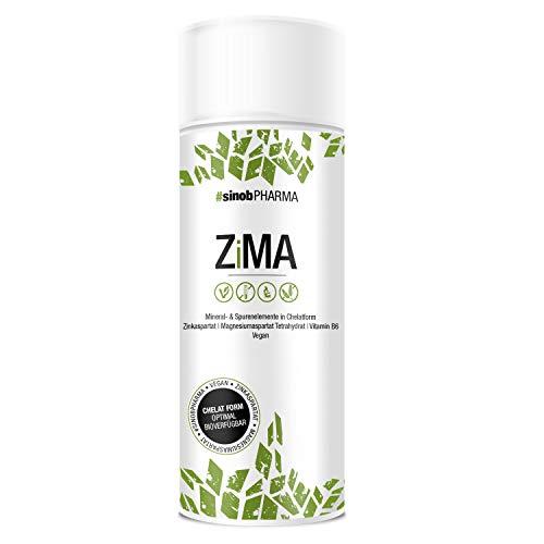 sinob ZiMA Zink Magnesium Vitamin B6 - ZMA Kapseln Hochdosiert 1 x 90 Kapseln. 100{90d472b2724fce75cf3ced324586a16aef47d3e80aea5ae514f529884c247261} Vegan und durch Chelat-Form Optimal verfügbar. Unterstützt das Immunsystem und die Muskelfunktion