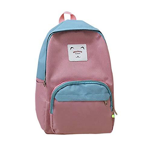 Qiuday Damen Rucksack Studenten Backpack Laptop College Schulrucksack Reiseeucksack Frauen Schultasche Modische Tragbare Beiläufige Mittelschule Reisetasche Große Kapazität Leinwand Computer