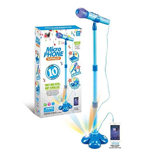 Buy weepo Kids Stand Type Music Microphone Toy with Colorful Light Children Education Musical Toy Gi...