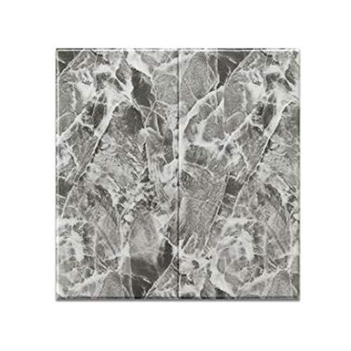 JHM-Nordische Stil DIY Schaum Tapete wasserdichte Selbstklebende,3D Marmor Stereowandpaneele Hintergrund Fototapete,für Schlafzimmer Wohnzimmer 10 Stücke 70cm*70cm,Grau