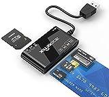 Lettore di Smart Card USB, USB ID Lettore elettronico Smart Card/Micro SD/SDXC/SD/SDHC/MS / M2 / MMC Lettore di schede di Memoria Compatibile con Mac OS, Windows, Linux, Chrome