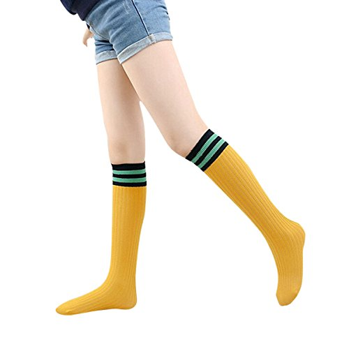 ZUMUii Butterme Hiver 100% Cotten Tricoté Au Cours des Chaussettes à Rayures Chaussettes de Tube pour bébé Tout-Petits Enfants Garçons Filles 3-12 Ans