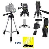 50' Professional Lightweight Tripod for Nikon D3000 D3100 D3200 D3300 D3400 D3600 D5000 D5100 D5200 D5300 D5600 D5500