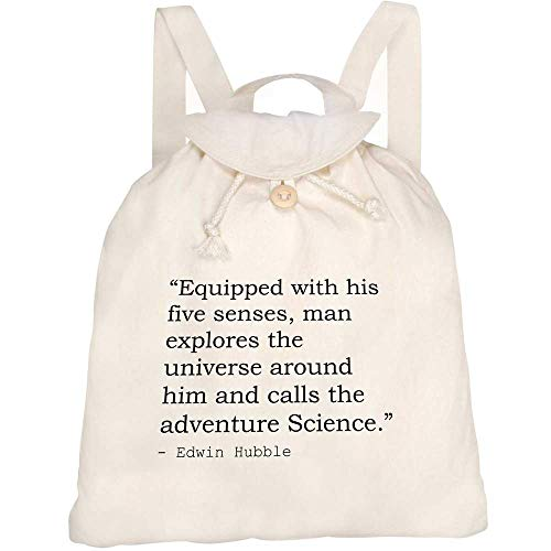 Azeeda Science Quote By Edwin Hubble Canvas Rucksack / Backpack (RK00000226)