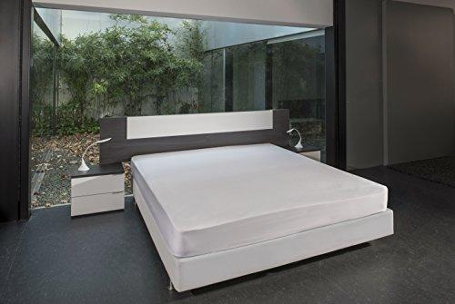 Bsensible Tencel Drap housse protecteur pour lit articulé au tête Blanc 70+70 x 190