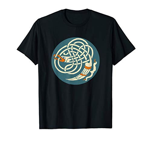 Celtic Bird In Circle Celtic Design - Celts Of The World T-Shirt