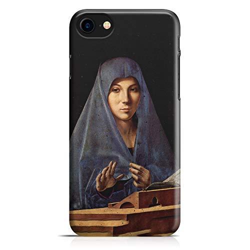 ItalianCaseDesign Carcasa Funda Protectora para iPhone 7-8 - 7 Plus - 8 Plus (Selecciona el Modelo) Pintura Virgen anuncian Antonello Da Messina Pintura