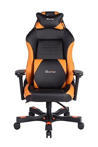 CLUTCH CHAIRZ Shift Series Alpha Mid-Sized Gaming Chair (Orange)