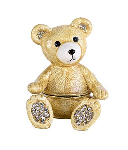 Pillendose Teddy Schmuckdose Vintage Deckeldose Teddybär Box Schmuckfigur Bär cl202 Palazzo Exklusiv