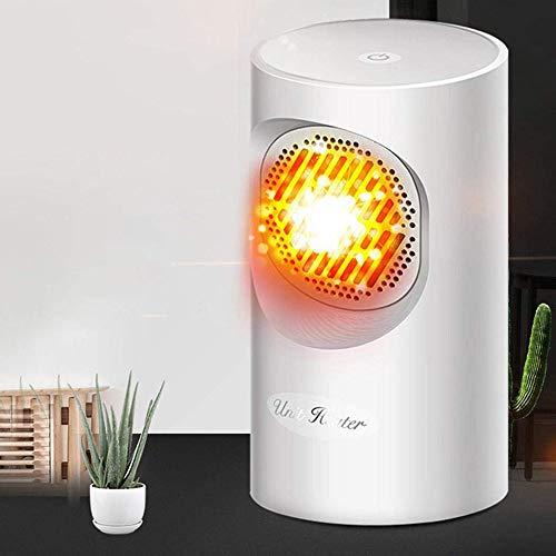 Kaxin Elektrische mini-verwarming, voor huishouden, beweegbaar, handzame space-heater, warmer 300-400 W, button control, voor thuis/kantoor of camper, wit