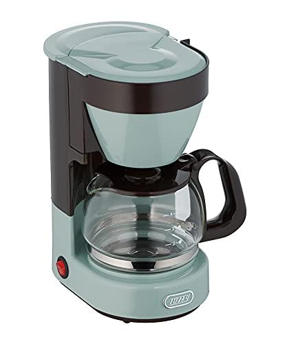 【Toffy/トフィー】 4カップコーヒーメーカー K-CM1 (ペールアクア) ドリップ式 自動保温機能 ガラスポット メッシュフィルター付き レトロ かわいい K-CM1-PA