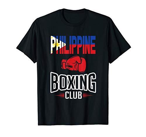 Philippine Flag Boxing Club Filipino Pinoy T-Shirt