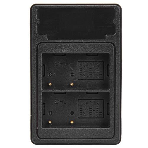 Entatial de batería de cámara EN-EL3/EL3E Pantalla LCD USB Dual Puerto Tipo C para Nikon D90 D80 D700 D300S D200 D50 D70