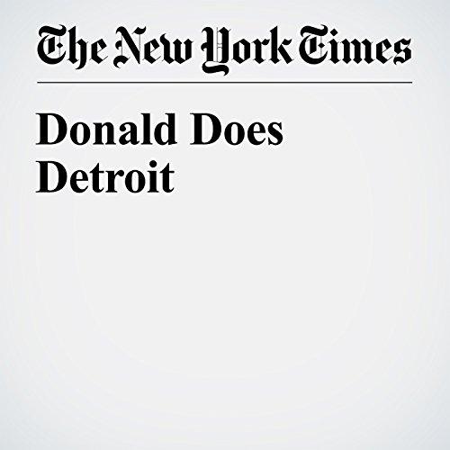 Donald Does Detroit cover art