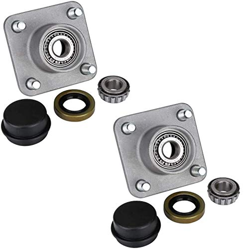 10L0L Golf Cart Front Wheel Hub Assembly kit with Bearing Seals for Golf Cart Club Car DS 1974-2003, OEM:11011102,1011153,1011889,1011892,1011894,LM11949(Pack of 2)
