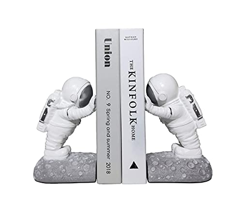 GRAY909 Decorative Bookends Book Shelves Book Ends Bookends Kids Bookshelf Astronaut Decor Room Decor Home Decor Office Decor Living Room Decor