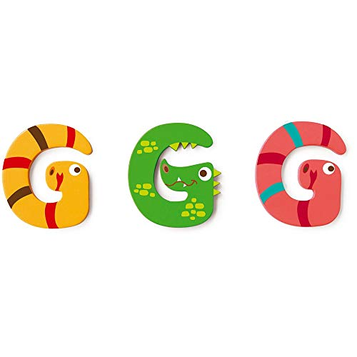 SCRATCH Toutes les autres mobilités, décoration et rangement pour enfants Scratch Deco: Wooden Lettre 'G', 3 branches, styles, 3 pastilles adhésives incluses, sur carte, multicolore (plus d'un).