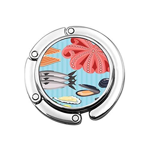 Geldbörse Kleiderbügel Geldbörse Haken Meeresfrüchte Zutaten Die Schalen von Austern und Muscheln mit Zitronenfisch Lachs und Forelle Tentakeln Octopus