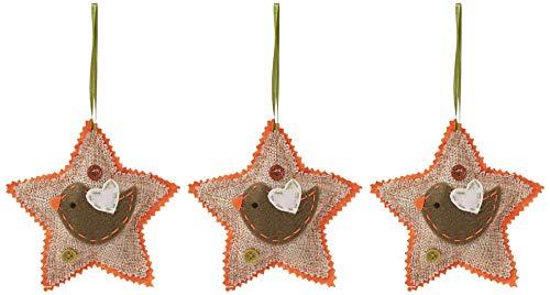 OmniReselling Canvas Plush Star Decoratie 3 Pakket: Vogel, niet gespecificeerd