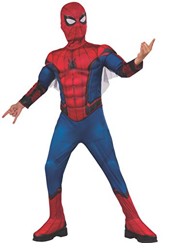Rubie s Child s Marvel Spider-Man Far from Home Deluxe Spider-Man Costume & Mask, Small