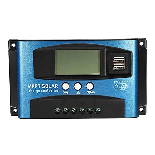 liuchenmaoyi Brosse en Acier Hot 30A MPPT Contrôleur de Charge Solaire Dual USB écran LCD 1 2V 24V Régulateur de Chargeur de Panneau de cellules solaires Auto avec Charge Outils de récupération.