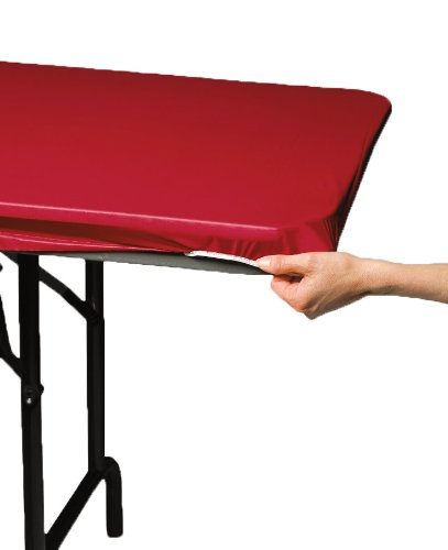 Creative Converting Plain Red Stay Put Tablecover, Any, Multicolor