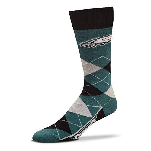 For Bare Feet – NFL Argyle Lineup Herren Crew Socken – Einheitsgröße, Unisex-Erwachsene, Philadelphia Eagles, Einheitsgröße