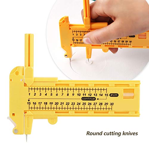 Delaman Circle Cutter Rotary Compass Cutter, Paper Cardboard Films Rubber Leather Art Craft DIY Tool Making