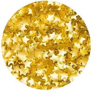 CakeSupplyShop Metallic Gold Stars Edible Shimmer Glitter for Cakes and Cupcakes .15 oz Jar