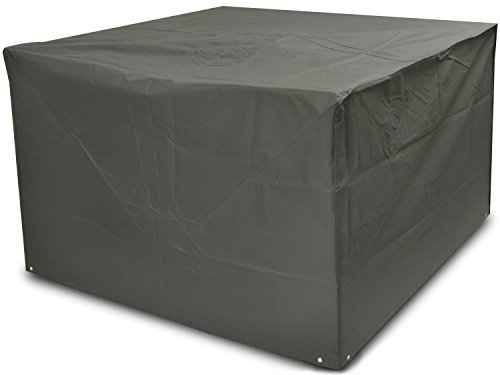 Woodside Heavy Duty Waterproof Rattan Cube Outdoor Garden Furniture Rain Cover, Grey, Heavy Duty 600D Material, 5 YEAR GUARANTEE