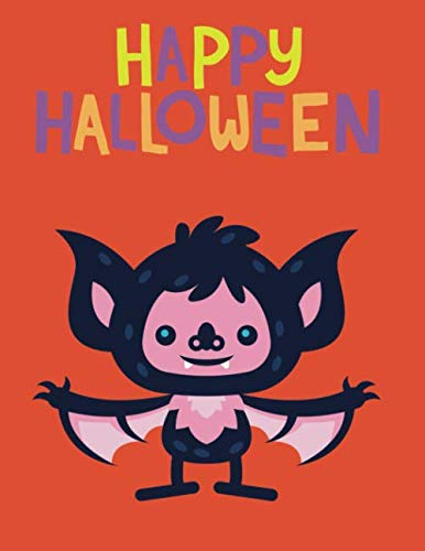 Halloween Coloring Books For Kids Ages 4-8: 110 Pages | One-Sided Printing (Safe For Markers, Paint, Crayons) | Girls And Boys | Halloween Gifts For Kids