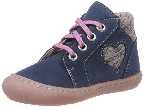 Däumling Baby Mädchen Steffi Sneaker, Blau (Turino Jeans 42), 25 EU